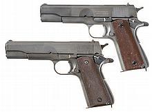 Two U.S. Model 1911A1 Semi-Automatic Pistols -A) U.S. Remington-Rand Model 1911A1 Pistol