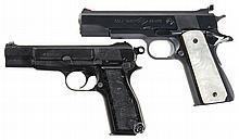 Two Semi-Automatic Pistols -A) Colt Ace Service Model Pistol
