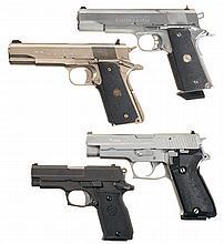 Four Semi-Automatic Pistols -A) Colt Government Model McCormick Factory Racer Pistol