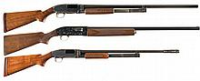 Three Winchester Shotguns -A) Winchester Model 12 Heavy Duck Slide Action Shotgun