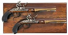 Cased Pair of United States Historical Society Hamilton-Burr Flintlock Dueling Pistols -A) U.S Historical Society Hamilton-Burr Dueling Pistol