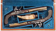 Cased Pair of U.S. Historical Society Alexander Hamilton-Aaron Burr Commemorative Flintlock Dueling Pistols and Accessories -A) U.S. Historical Society Hamilton-Burr Pistol