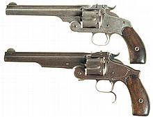 Collector's Lot of Two Antique Smith & Wesson Single Action Revolvers with Factory Letters -A) S&W; New Model No. 3 Revolver