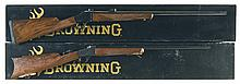 Two Browning Model 1885 Single Shot Rifles with Boxes -A) Browning Model 1885 High Wall Rifle