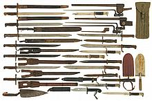 Grouping of Twenty-Seven Bayonets and One .50 Caliber Cleaning Rod