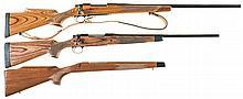 Two Remington Model 700 Bolt Action Rifles -A) Custom Remington Model 700 Rifle