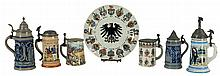 Grouping of German Steins and Flatware