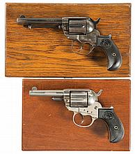 Two Colt Model 1877 Double Action Revolvers with Cases -A) Colt Model 1877 Thunderer Revolver