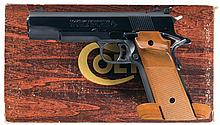 Colt MK IV Series 70 Gold Cup National Match Semi Automatic Pistol with Box and 22 L R Conversion Kit