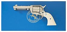 Scarce and Attractive John Adams Sr. Master Engraved Third Generation Colt Frontier Six Shooter Single Action Army Revolver with Box and Engraver's Letter