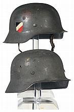 Two Nazi Stahlhelms