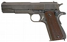 U.S. World War II Remington-Rand Model 1911A1 U.S. Army Semi-Automatic Pistol with Shoulder Holster