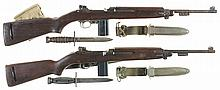 Two U.S. Military Semi-Automatic Carbines -A) U.S. National Postal Meter M1 Carbine with Bayonet and Magazine Pouch