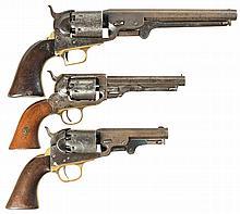 Three Civil War Era Percussion Revolvers -A) Metropolitan Arms Company Navy Model Revolver