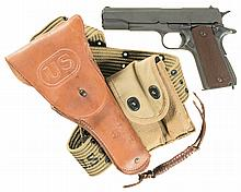 U.S. Army Colt Model 1911A1 Semi-Automatic Pistol with Holster and Accessories