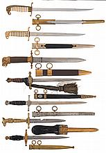 Grouping of Seven Military Style Daggers