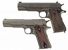 Two Semi-Automatic U.S. Military Pistols -A) U.S. Remington-Rand Model 1911A1 Pistol