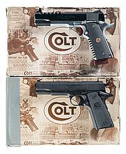 Two Colt Semi-Automatic Pistols with Cases -A) Colt MK IV Government Model Pistol