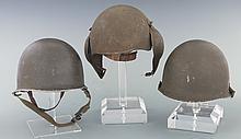 Three U.S. Style WWII Helmets