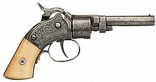 Scarce Massachusetts Arms Maynard Primed Pocket Revolver with Ivory Grips