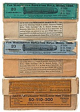 Collector's Lot of Vintage Winchester Boxed 50-110 Express Rifle Ammunition