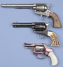Three Revolvers -A) Unmarked Double Action Revolver