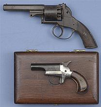 Two Handguns -A) British Proofed Percussion Revolver