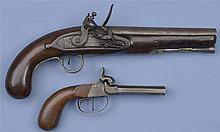 Two Antique Handguns -A) Twigg Marked Flintlock Pistol