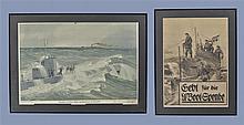 Framed German U Boat Artwork