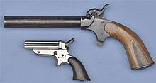 Two Spur Trigger Pistols -A) Unmarked German Percussion Single-Shot Pistol