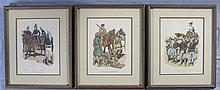 Three Framed Historical Military Prints