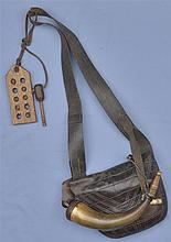 Leather Satchel and Powder Horn