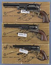Three Reproduction Percussion Revolvers -A) Uberti First Model Dragoon Revolver with Matching Box