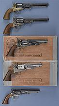 Five Reproduction Percussion Revolvers -A) Euroarms Navy Model Revolver