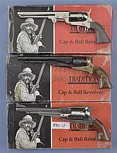 Three Reproduction Percussion Revolvers -A)  Pietta Model 1851 Navy Revolver with Box