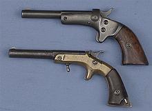 Two Pocket Pistols -A) Stevens Tip-Up Single Shot Pistol