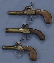 Three Pocket Pistols -A) Belgian Percussion Pistol
