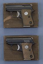 Two Semi-Automatic Pistols with Boxes -A) Spanish Copy of Junior Colt Pistol with Box
