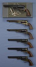 Six Contemporary Percussion Revolvers -A) Italian Reproduction Dragoon Revolver with Matching Box