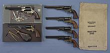 Six Contemporary Percussion Revolvers -A) Italian Reproduction Remington New Army Model Revolver with Box