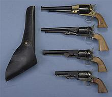 Four Contemporary Percussion Revolvers -A) Italian Reproduction of Remington Revolver with Holster