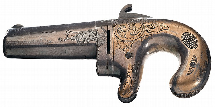 Early Engraved Moore's Patent Firearms Co. No. 1 Derringer