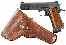 U.S. Colt Model 1911A1 Semi-Automatic Pistol with Holster and Accessories