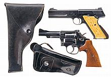 Two Handguns with Holsters -A) Colt Woodsman Second Series Match Target Semi-Automatic Pistol
