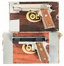Two Colt Semi-Automatic Pistols -A) Colt Mark IV Series 70 Government Model Pistol