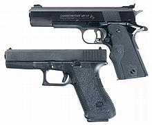 Two Semi-Automatic Pistols with Holsters -A) Colt Mark IV Series 80 Gold Cup National Match Pistol