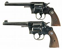 Collector's Lot of Two Colt Double Action Revolvers -A) Colt Army Special Model Revolver