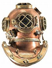 World War II Dated Morse Diving Equipment U.S.N. Mark V Diving Helmet and Corselet