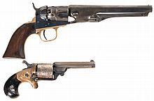 Two Antique Revolvers -A) Colt Model 1862 Police Percussion Revolver