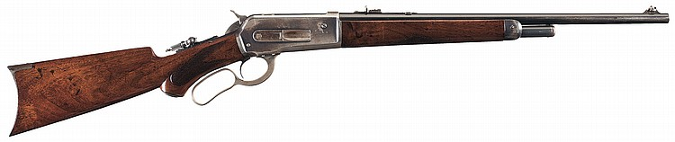 Scarce Documented Special Order Winchester Model 1886 Rifle with 20 Inch Round Barrel